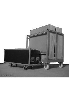 ROAD CASE for 50m² portable parquet WALZER